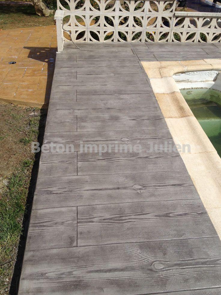 Terrasse Beton Imprime Awesome Terrasse Extrieure En Bton Matric