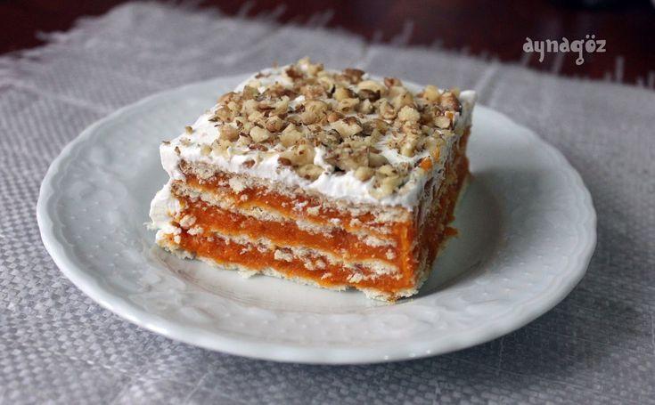 AynaGöz.: Bisküvili Balkabaklı Pasta