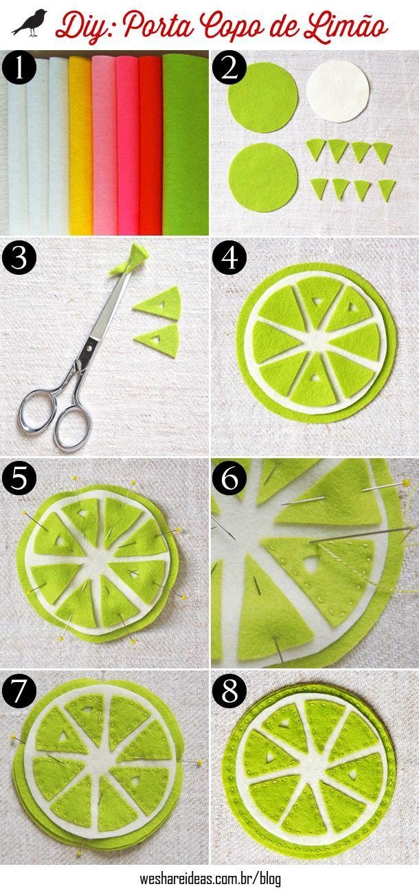 porta copo de limão, como fazer porta copo, presentes mesa posta, limão, lemon, placement, gifts, diy, faça você mesmo, handmades