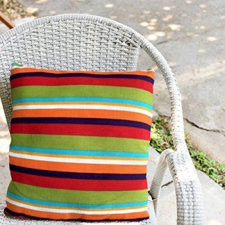 Decorative Square 18 x 18 Inch Throw Pillows (Indoor/Outdoor) Multi-Color Stripe Cushion Pillow Drastically elevate your space by picking trendy, cute and stylish outdoor throw pillows. You can get all kinds patio, porch and yard decorating ideas by just picking some pretty plush accent pillows. You will love just how many fabrics, patterns and materials to pick from. It does not matter if you have a rustic, modern, Victorian or cottage themed home. You will find great...