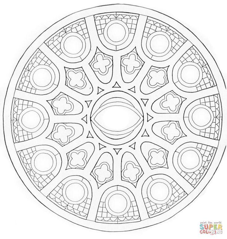 274 best Mandalas images on Pinterest Coloring pages, Mandala - best of mini mandala coloring pages