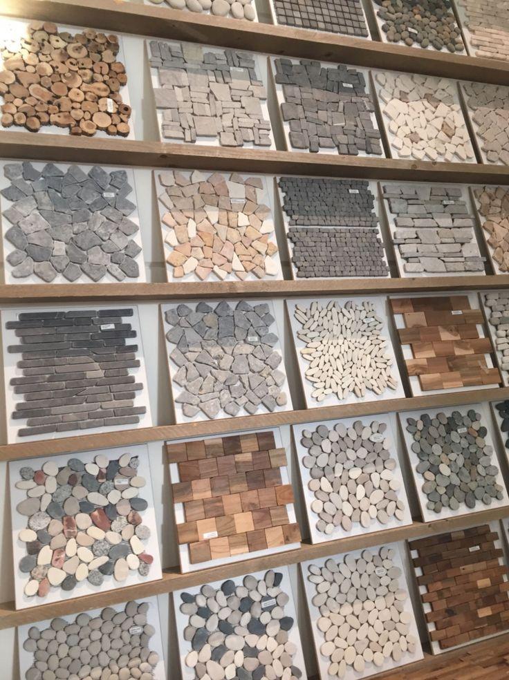 Mozaiek Wandtegels Kiezel Mozaiek Steen Mozaiek Hout Mozaiek Wood Cladding Wood Panelin Bathroom Remodel Designs Wall Tiles Design Showroom Interior Design
