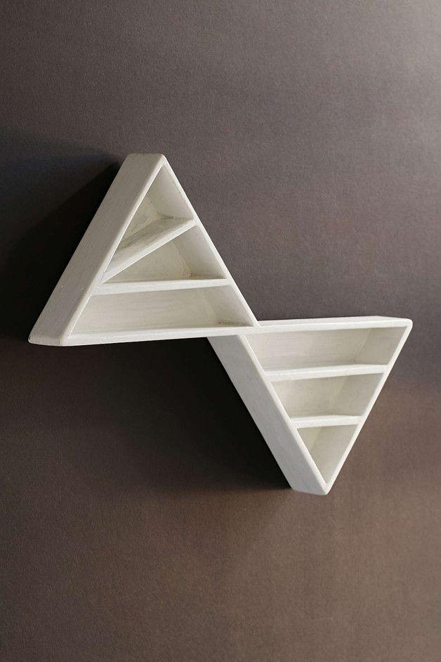 Drewniana półka geometryczna , połączone trójkąty. Piękna do wyeksponowania na…