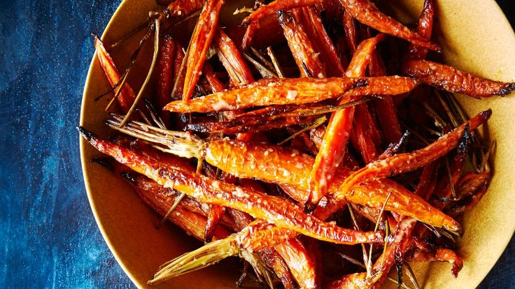 This roasted carrots recipe makes extra dressing, which is good because you'll want to use it on your next burger, over broiled salmon, or in a grain salad.