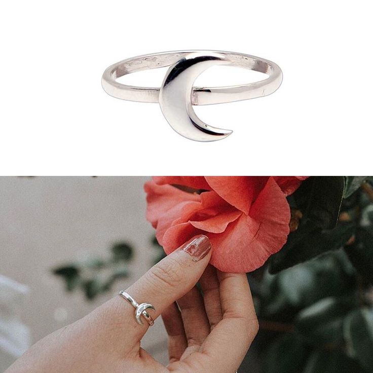Sterling silver moon ring!