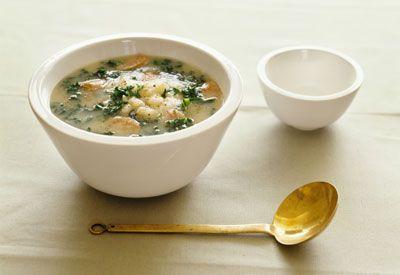 Leek and Sausage Soup