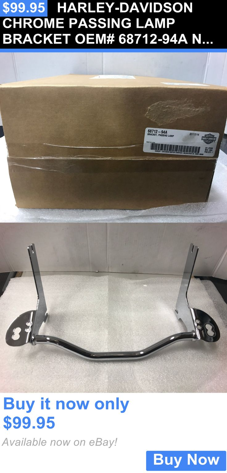 motorcycle parts: Harley-Davidson Chrome Passing Lamp Bracket Oem# 68712-94A New In Box BUY IT NOW ONLY: $99.95