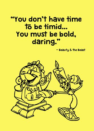 """""""You don't have time to be timid... you must be bold, daring"""" Printable Disney Quotes on Etsy"""