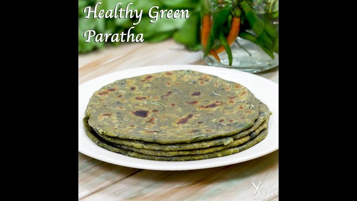 Healthy Green Paratha | green paratha recipes