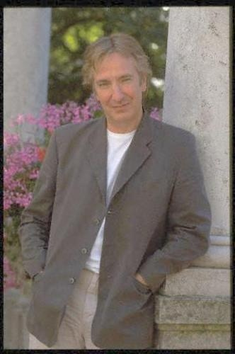 "August 1997 -- This Photo of Alan Rickman is from a series of photos taken during an interview Alan did at the 54th Venice Film Festival in August of 1997. He was there promoting ""The Winter Guest."""