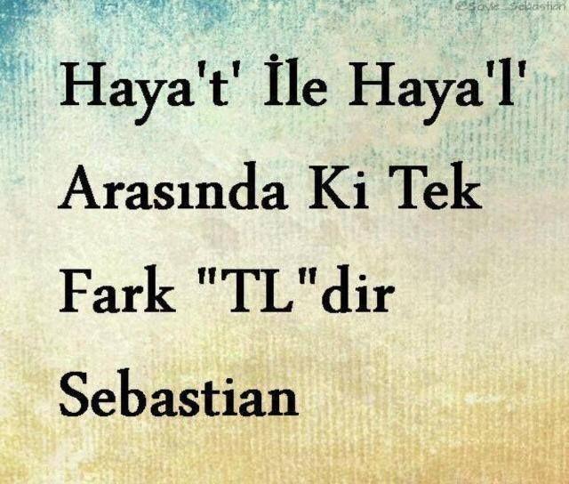 S. Bysn 》 Sebasrtian sözleri