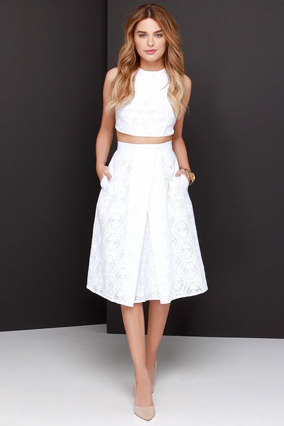 Piece and Harmony Ivory Two-Piece Dress at Lulus.com! #wishlist #classy