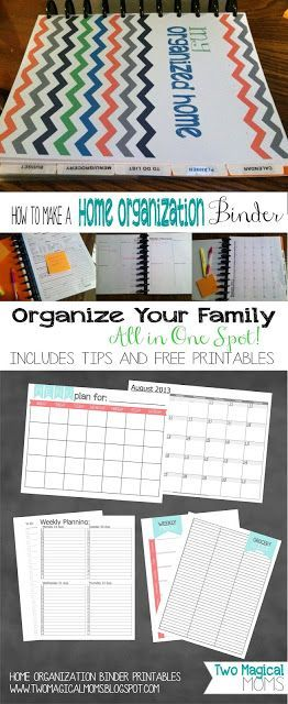 two magical moms  home organization binder