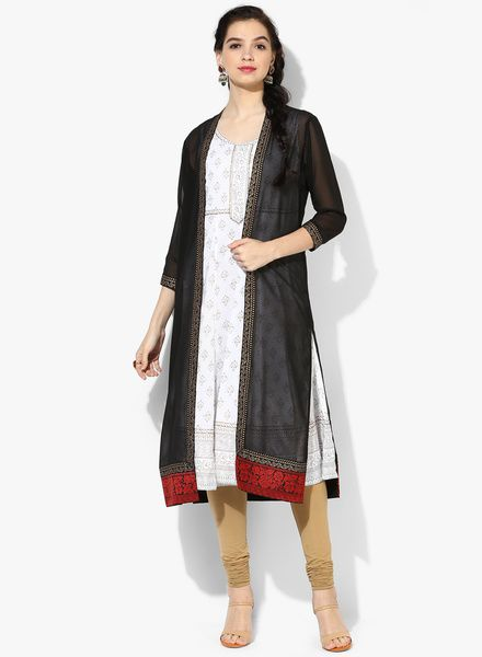 Buy Rangmanch By Pantaloons Black Solid Georgette Summer Jacket for Women Online India, Best Prices, Reviews | RA233WA92NDNINDFAS