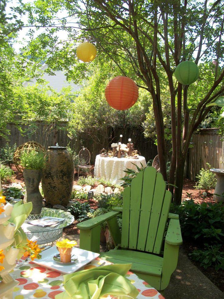 pretty decorations: Gardens Party, Backyard Idea, Gardens Idea, Exterior Decoration, Dream House, Party Decoration, Flover Gardens, Outdoor Decoration, Pretty Decoration