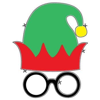 Free printable photo props including Mr Elf