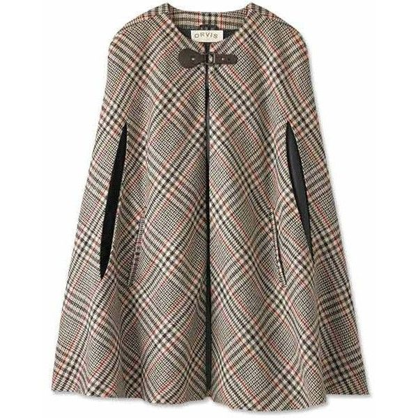 Plaid Winter Cape for Women / Classic Glen Plaid Cape -- Orvis UK found on Polyvore 94 pounds