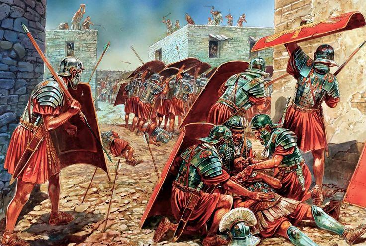 Peter Dennis mostrándonos el sangriento asalto a la villa fortificada de Horvat'Ethri durante la revuelta judía de Bar Kochba. http://www.elgrancapitan.org/foro/viewtopic.php?f=87&t=16979&p=897251#p897209