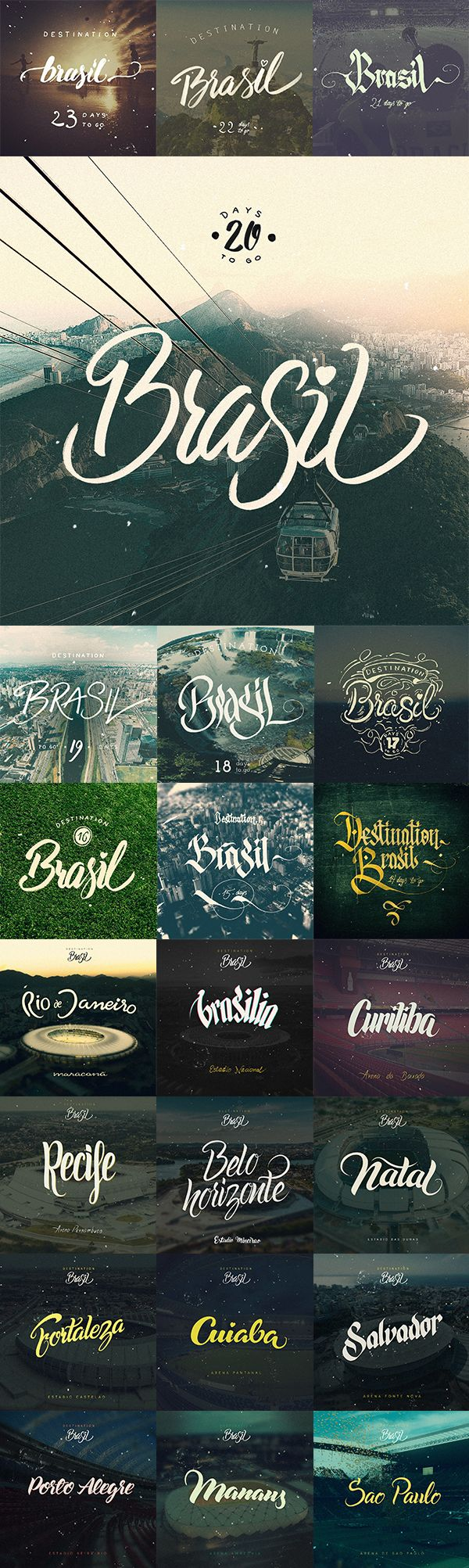 Destination Brasil by Arkadiusz Radek, via Behance