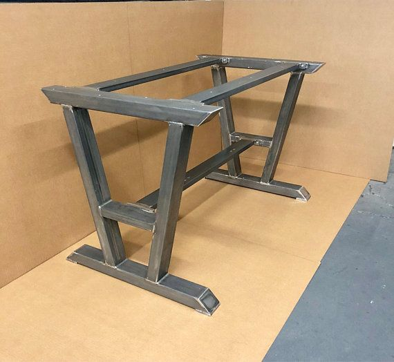 Super Heavy Duty Table Base Turned A Shaped Modern Steel
