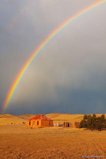 Rainbow over Burra Homestead  Burra, South Australia