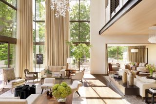 Contemporary Living Room by McAlpine Booth & Ferrier Interiors via @Architectural Digest #designfile