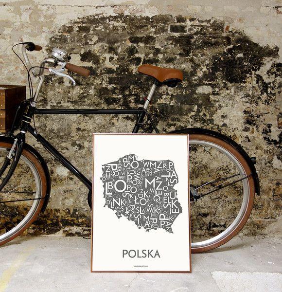 Plakat Polska- szary | Designzoo