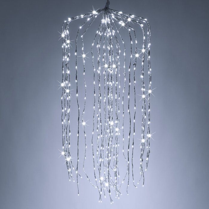 Falling Willowled Lighted Trees Branches Starburst Light