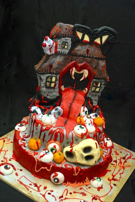 monster hallowen - by NataliaPicci @ CakesDecor.com - cake decorating website