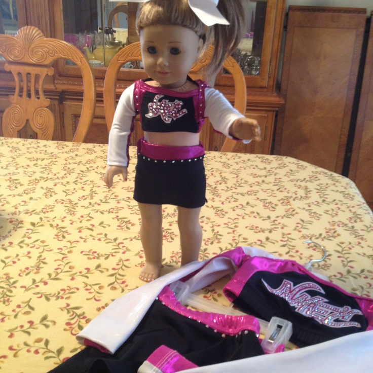 AG doll cheer uniform that I made for my daughter to match her uniform.