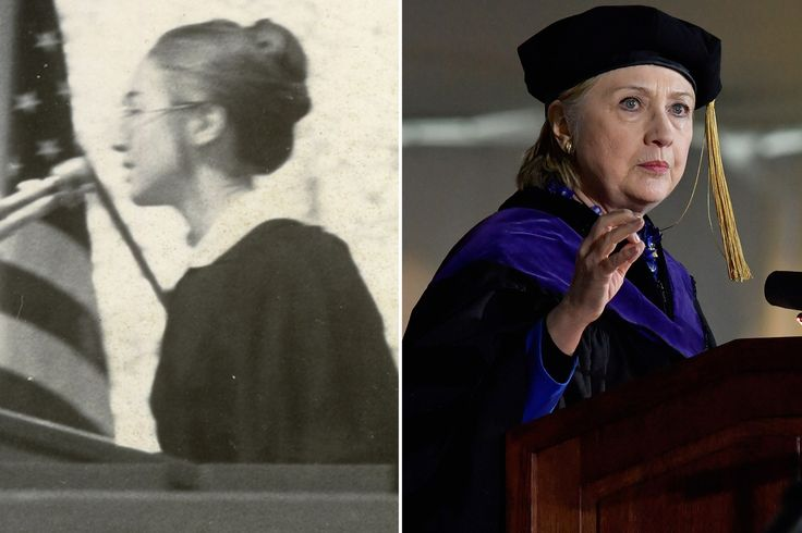 Hillary Clinton gave a headline-making commencement speech at Wellesley College on Friday, as she did back in 1969