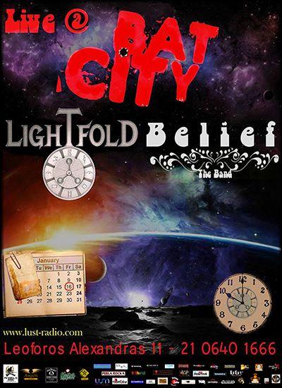 Lightfold και Belief The band μαζί @ Bat City Club | 16/01
