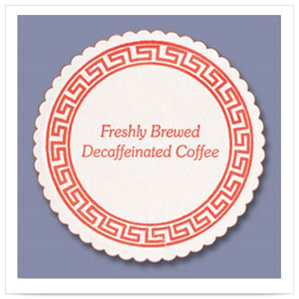 3 3/8 inch Decaf Coffee Budgetboard Coaster/Case of 1000