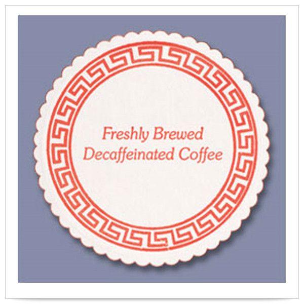 3 3/8 inch Decaf Coffee Budgetboard Coaster/Case of 1000