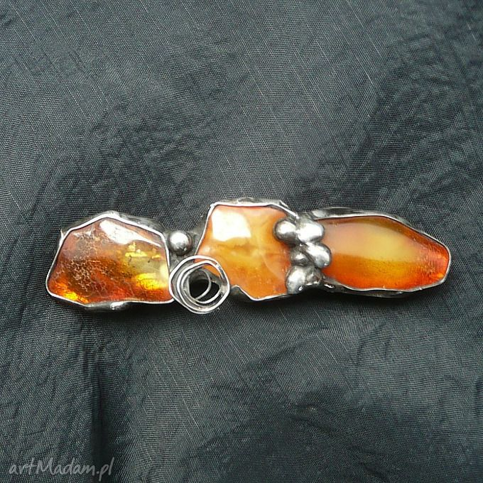 Hair clip. Baltic amber. Beautiful GIFT, a real handmade :). // Spinka do włosów. Bursztyn bałtycki. Piękny PREZENT, prawdziwy hand made :).