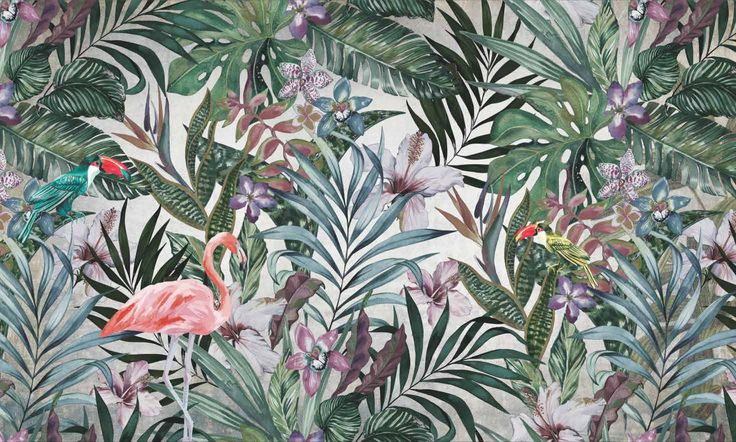 flamingos wallpaper design by Adriani&Rossi Pareti