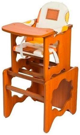 Пмдк Стол-стул премьер лдсп светлый орех (клеёнка) (капучино)  — 1958р.  Стол-стул для кормления Премьер Удобный и функциональный стульчик для кормления. Легко трансформируется в столик и стул для малыша. Для создания высокого стульчика для кормления вам нужно установить  малый стул на столик. Стульчик устойчив и не опрокидывается. Края сглажены и безопасны для ребенка. 3-точечные ремни безопасности. Удобный съемный моющийся чехол из непромокаемой бязи. Высота от пола 52 см. Рекомендована…