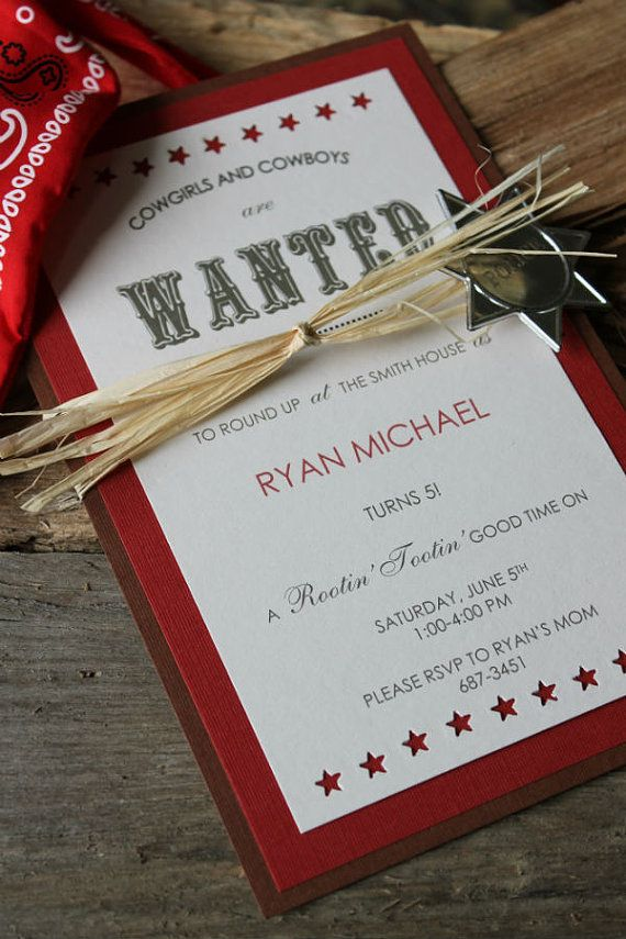 The invite itself is not what I'm looking for, but I like the presentation with the straw and badge wrapped around