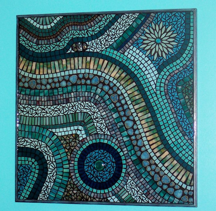 glass mosaic art images | Mixed Media Stained Glass Mosaic Wall Art by LowBridgeArtworks