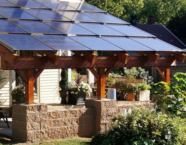 These are not the best solution for adding to or replacing your current roof. But if you want a quick, attractive way to incorporate solar power into your house, solar canopies may be the answer. They are ideal for constructing patios or carport