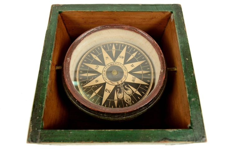 Dry Magnetic Compass Signed J. S. Stockholm, Early 19th Century | From a unique collection of antique and modern scientific instruments at https://www.1stdibs.com/furniture/more-furniture-collectibles/scientific-instruments/