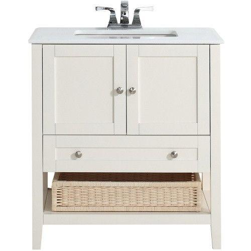 simpli home 4axcvccw30 cape cod 30 in single bathroom vanity