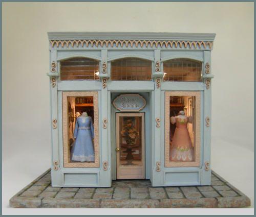 Quarter Scale Dress Shop [OC-2QSDS] : Cynthia Howe Miniatures!, Your premier source for Dollhouse Miniatures, Miniature Classes, Miniature Dolls and Molds, Kits and Free Tutorials.