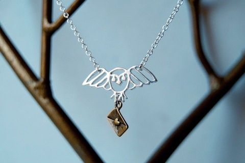 Long Live Hedwig necklace - #HarryPotter - Click image to find more Geek Pinterest pins