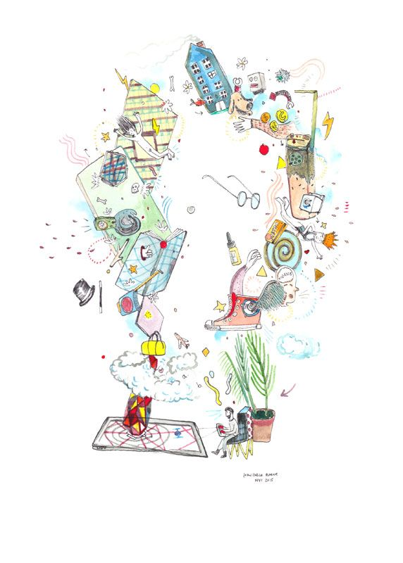 """Es magia Artista: Juan Pablo Baene Obra original, que pertenece a la exposición colectiva """"El Viaje"""", organizada por La Fiambrera Art Gallery Acuarela y rotulador sobre papel Dimensiones: 29×21 cm"""