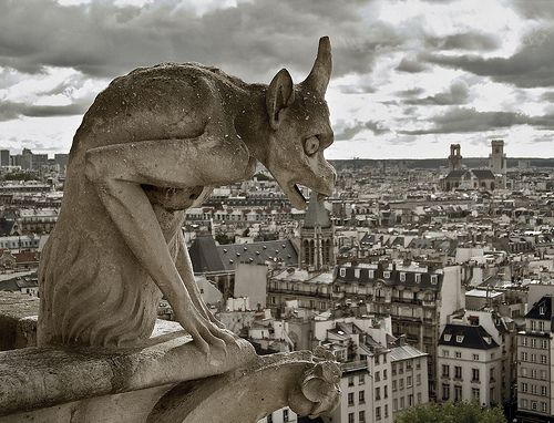 Parisian gargoyles from Notre Dame Cathedral.