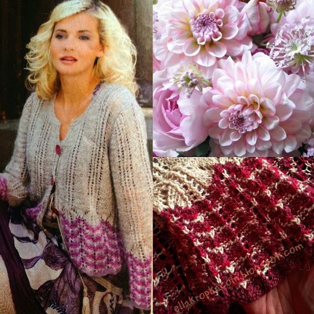 ella kropka com: Malinowy sweterek