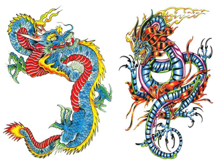 Dragon Tattoo by SubImageStudio on Etsy