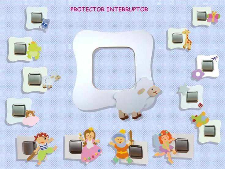 Protectores para los interruptores de la habitación de tu bebé.