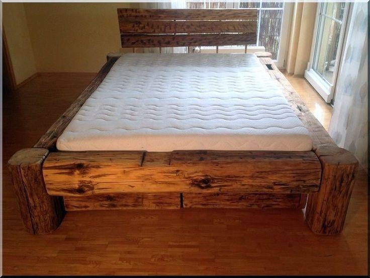 Antik ágykeret gerendából